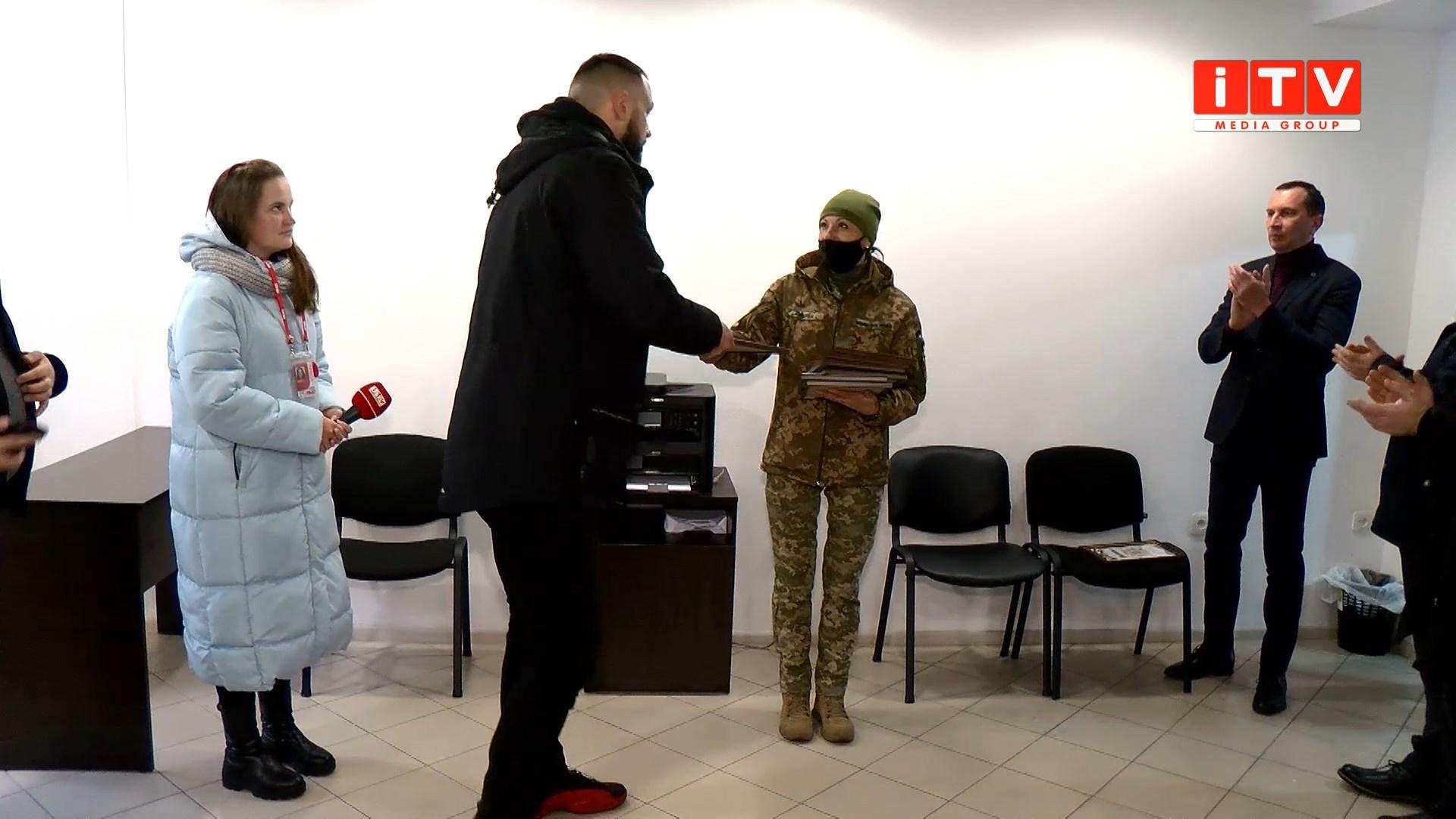 У Рівному військові нагородили волонтерів (ВІДЕО)