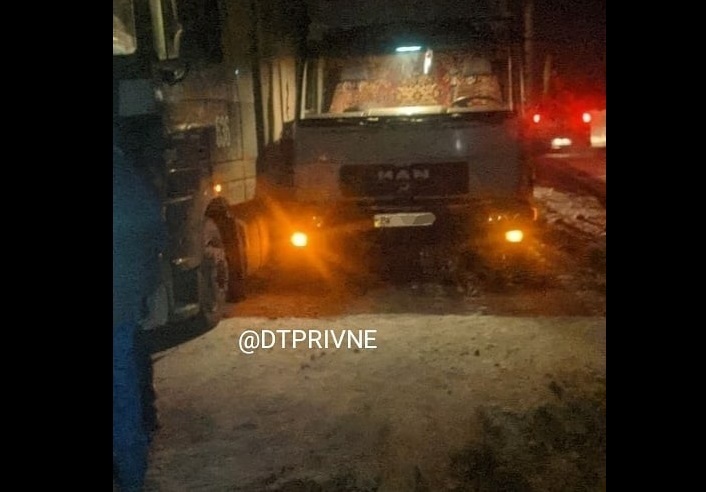 На Рівненщині зіткнулися дві вантажівки (ФОТО)