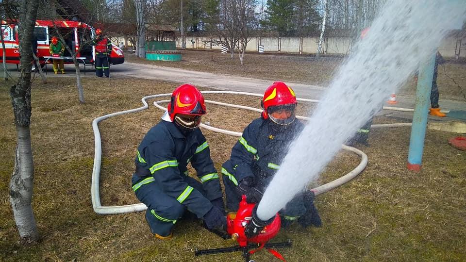На РАЕС ліквідовували умовну пожежу (ФОТО)
