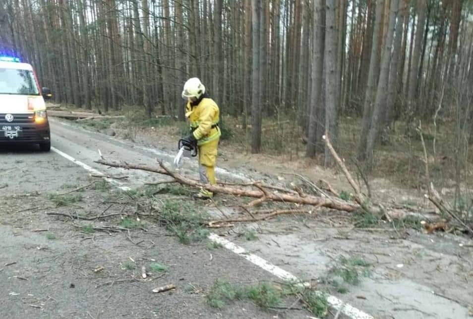 На Рівненщині розчищали дорогу через негоду