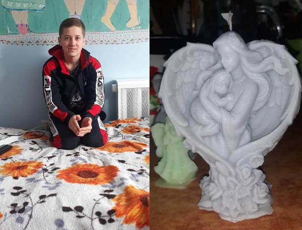 Хлопчик з Рівненщини виготовляє свічки, аби зібрати кошти на боротьбу з хворобою
