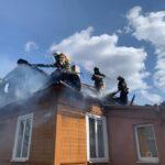 У Клевані згорів дах будинку
